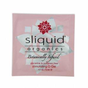 Środek  nawilżający pobudzający - Sliquid Organics O Gel Pillow 5ml SASZETKA