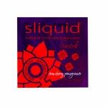 Sliquid, Smakowy środek nawilżający - Sliquid Naturals Swirl Lubricant 5 ml Truskawka i Granat SASZETKA