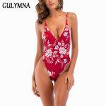 GULYMNA 2018 Swimwear Women Bandage Bikini Set One Pieces Swimsuit Backless Monokini Sexy Mayo Badpak Maillot De Bain Femme Suit