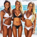 Hirigin 2017 Sexy Women Swimwear Push-Up Bikinis Set Padded Bra Bandage Swimsuit Women Beachwear Women Beach Outwear Beachwear