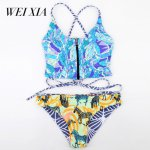 WEIXIA 2018 Show Push Up Bra Swimwear 1657 Lovely girl Swimsuit Female Bikini Set  Bikini Beachwear Swimsuit Top Sexy
