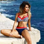SexeMara push up bikini 2018 sexy swimwear women bikinis set summer beach suit sunbathing swim suit low waist XXL girls swimsuit