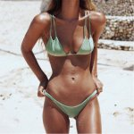 Kakaforsa 2018 Summer Bikini Set Sexy Swimsuit Solid Cheap Swimwear Two-piece Bikinis Low Waist Bathing Suit Women Beach Wear
