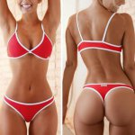 Sexy Bikini 2018 bandeau Swimsuit Thong Swimwear Women Bikinis Push Up Red pad Bikini Set brazilian Biquini Female Bathing Suit