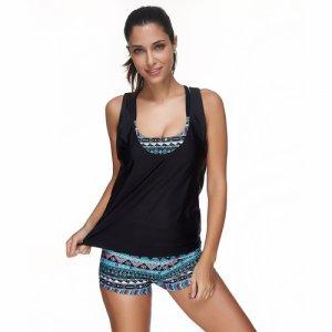 New printing three-piece bikini sets Comfortable sexy sports swimsuit Muslim Swimwears plus size