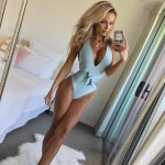 FALLINDOLL 2018  One Piece Swimsuits for women Sexy Plus Size Swimwear Low Bust Swimming Suit girls halter Bathing Suit Bechwear
