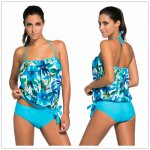 Aleumdr 2018 Women Sexy Swimwear Removable straps with pad Beach Swim Wear Bikinis Swimsuit Bandeau Tankini 2 pieces Sets 41917