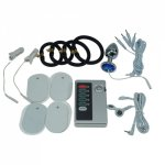 Electric shock anal plug breast massager electro sex steel butt plug nipple sex toy clitoris clamp breast beauty