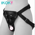 Ikoky, IKOKY Sex Pants Strapon Penis Bondage Roleplay Strap On Dildos Pants Wearable Sex Toys for Women Lesbian Underwear Erotic toys