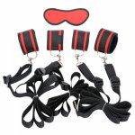 Flirting Adult Games Erotic Sex Handcuffs Footcuffs with Sex Mask Bed Restraints Bondage Set Sex Toy Sex Products for Couples A3