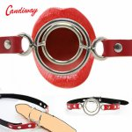 BDSM Breathable due O-Ring Ball Gags Mouth Gag Fetish Ball for women men Leather Oral Fixation Flirting Cosplay role Sex Toys