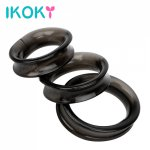 Ikoky, IKOKY 3pcs/Sets Penis Ring Dildo Extender Elastic Cock Ring Male Masturbator Adult Products Delay Ejaculation  Sex Toys for Men