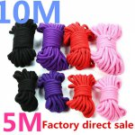 5M 10M Fetish Alternative slave bondage rope Restraint CottonTied Rope sex products for couples adult game BDSM roleplay 4Colors