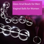 Large Size Glass Anal Beads Big Vaginal Balls Anal Butt Plug Female Sex Products Vagina Kegel Balls for Women Crystal Massager