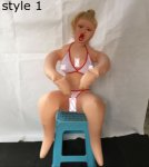 Half face mask simulation hugging  sitting position inflatable sex doll ,male masturbation real silicone sex doll,party doll