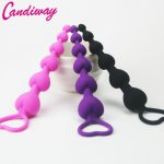 Heart beads Soft Anal Plug anus Toys Big Anal Balls Silicone G-Spot Stimulating Butt Plugs Adult Sex Toys Couple Sexy