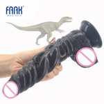 FAAK animal dinosaur dildo realistic soft silicone penis suction cup vagina stimulate anus massage anal dildo women sex toys