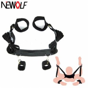 Adult Games Accessories Bed Fetish bdsm Bondage Restraints Neck Ankle HandCuff Erotic Sex Products Sex Toys for Couples PY434