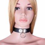 Black Fetish PU Leather Collar Neck Strap Adjustable Belt Slave Fantasy Bondage BDSM Bondage Sex Product Adult Sex Toy For Lover