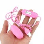 12 Frequency USB Rechargeable Vibrating Egg Vaginal Ball Mini G-Spot Clitoris Stimulator Vibrator Sex Toys for Women