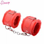 Adult Games SM bondage Sexy PU Lather handcuffs Restraints Bondage cuffs Cosplay tool BDSM Sex toy for Couple 4 color for Choose