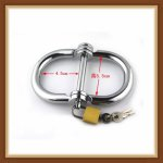 Free Shipping Metal bondage metal handcuffs Stainless Steel HandCuffs Sex toys Metal silver color Sexy fetish erotic toys