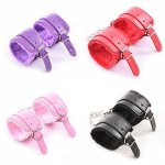 1 Pair Sex Game Handcuffs PU Leather Restraints Bondage Cuffs Roleplay Tools Sex toys for Couples 4 Colors