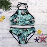 bikini 2018 Women's Bandage Bikini Set Sexy Leaves For Rope Swimsuit Push-up  swimwear women sexy bikini set swimsuit S-XL #30