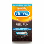 Durex, Zestaw prezerwatyw - Durex Emoji Feel Fun Condoms 6 szt