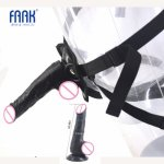 Faak, FAAK Cheap strapon harness dildo strap on penis suction cup adjustable belt sex toys for women couple flirting sex products